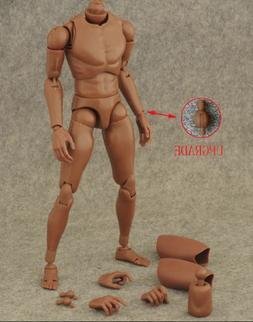 "1/6 figure African skin tone 12"" Male Body hot toys TTM18 TT"