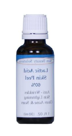 LACTIC Acid 60% Skin Chemical Peel - Alpha Hydroxy  For Acn