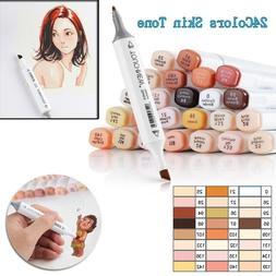 12 24 colors marker pens blendable font