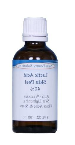 LACTIC Acid 40% Skin Chemical Peel- Alpha Hydroxy  For Acne