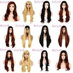 WigTech2017 250%Density Synthetic L Part Lace Front New Body