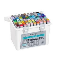 Superior 40/60/80 Color Art Markers Set 12/24 <font><b>Skin<