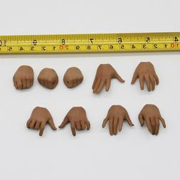 """9pc 1/6 Scale Asian skin tone men's hands set Model For 12"""""""