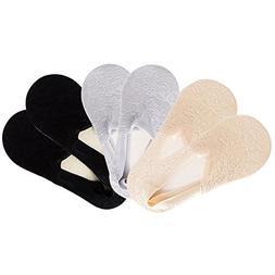 Decha Women's No Show Socks Pack Non Slip Flat Low Cut Liner