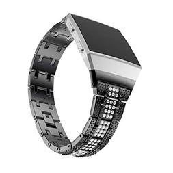For Fitbit Watch Bands Accessories,AutumnFall Luxury Alloy C