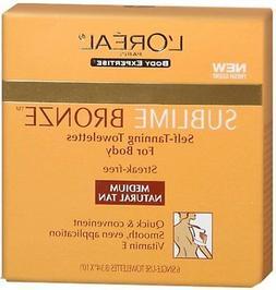 L'Oreal Paris Sublime Bronze Self-Tanning Body Towelettes, 6