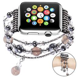 Sasairy Ladies Watch Band Sport Beaded Bracelet Strap Band f