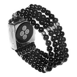 Sasairy Womens Watch Band Natural Stone Beaded Strap Band fo