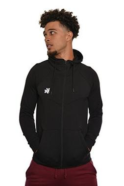 YoungLA Men's Cotton French Terry Tech Fitted Hoodie Zip-up