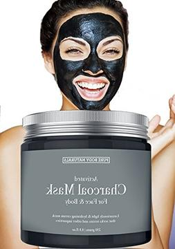 NEW Activated Charcoal Face Mask, Charcoal Mask for Blackhea