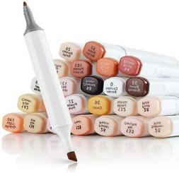 AMAZING COLORS! SKIN TONE Color Art Markers Pens/DUAL TIP! *