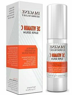 Anti Aging 3E Vitamin C Facial Serum Brightens Skin and Even