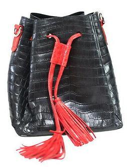 Authentic M Crocodile Skin Womens Belly Bag Hobo Tufts W/Str