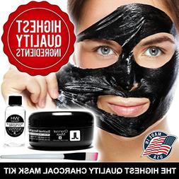 BlackMagic Charcoal Mask Kit  with Witch Hazel Toner and Mas