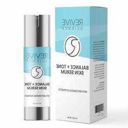 Balance + Tone Skin Serum with Vitamin E, Jojoba Oil, & Gree