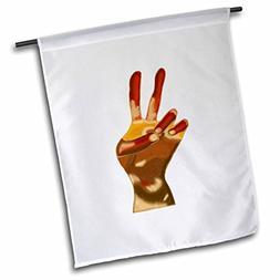 3dRose CherylsArt Signs Peace - Painting of a Peace Sign Han