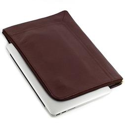 GENUINE LEATHER LAPTOP SLEEVE FOR APPLE MACBOOK AIR , PREMIU
