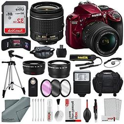 Nikon D3400 with 18-55mm f/3.5-5.6G VR Lens, 32 GB SDHC and