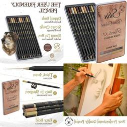 Dark Skin Tone Color Pencils For Portrait Set - Colored Penc