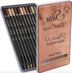 Dark Skin Tone Color Pencils | Portrait Set | Colored Pencil
