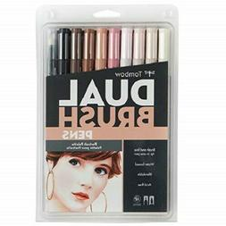 dual brush pen art markers portrait skin