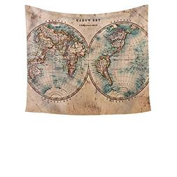 Chengsan Earth Tones Decor Collection, Old World Map from 18