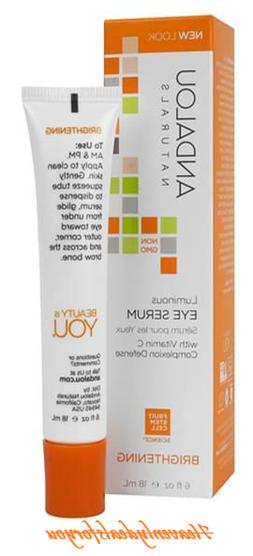 Andalou Naturals Eye Serum Luminous .60 FZ