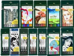 Faber Castell Pitt Artist Pens Brush Tip  Multiple Styles &