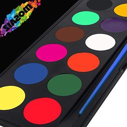 Face Painting Kit Non-Grease Face Paints Body Paint 12 Color