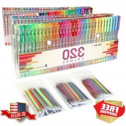 Aen Art Gel Pens 160 Colored Gel Pen Set with 160 Refills Gi