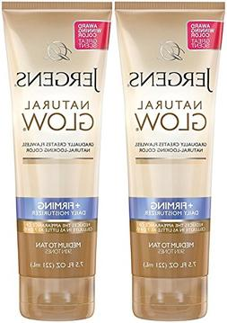 Jergens Natural Glow +Firming Daily Moisturizer, Medium to T