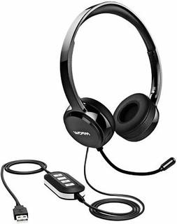 950317c2f2c Mpow PC Headset, 3.5mm/USB Headset Noise Cancelling Mic, Ste