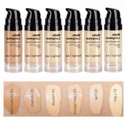 Hot Matte Liquid Foundation Moisturizing Hide Pores Cover Fr
