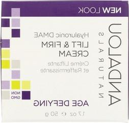 ANDALOU NATURALS: Hyaluronic DMAE Lift & Firm Cream, age def