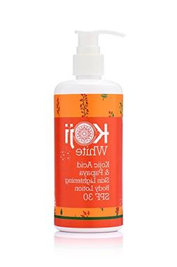 Kojic Acid & Papaya Skin Lightening Body Lotion SPF 30 - For