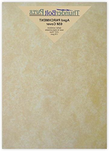 100 old age parchment cover