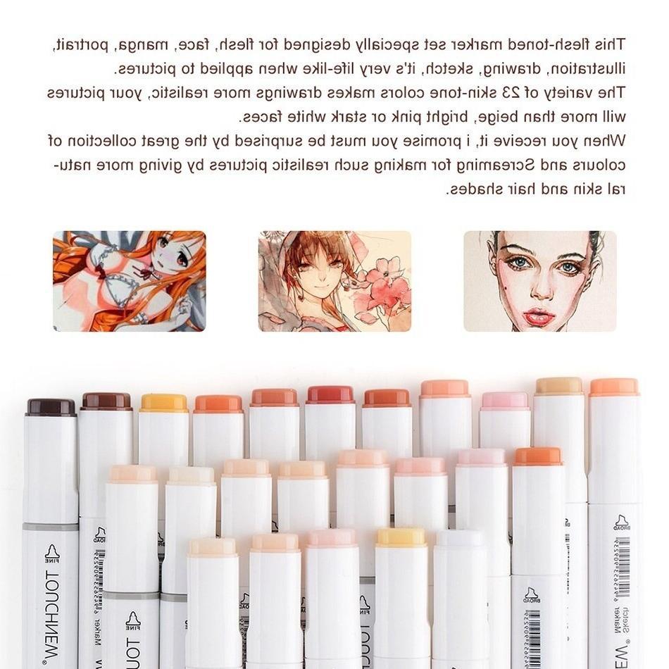 TOUCHNEW 12/24 Colors Pens for Art Pen <font><b>Skin</b></font>