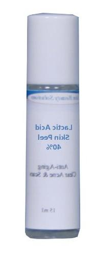 LACTIC Acid 40% Skin Chemical Peel - Alpha Hydroxy  For Acn