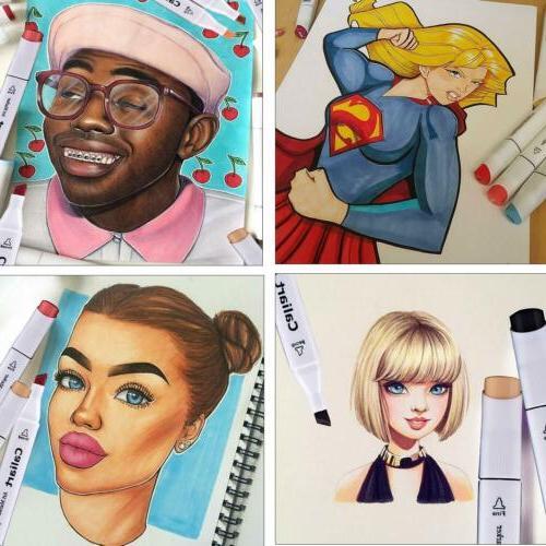 24 Markers Marker Set Art