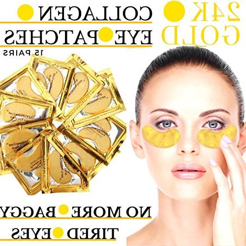 24k Gold Eye Mask - with Collagen