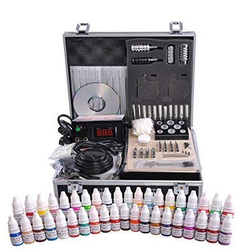 LeeMas Inc Professional Basic Tattoo Machine Kit LCD