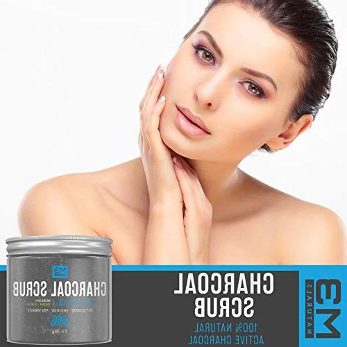 M3 Scrub & Collagen Infused Natural Face Skin Exfoliating Blackheads Acne Pore Reduces Anti Cellulite Treatment 12