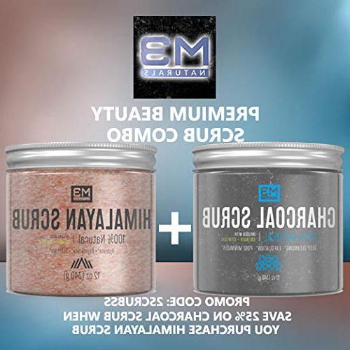 M3 Naturals Activated Scrub & Infused Natural & Skin Exfoliating Acne Pore Reduces Anti Treatment