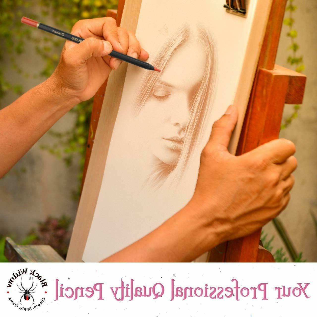 Adults Light Colored Artists Portraits Pencils Set 12