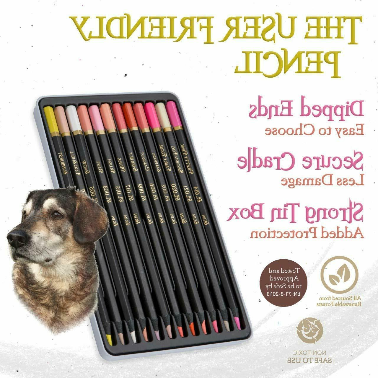 Adults Skin Colored Drawing Pencils
