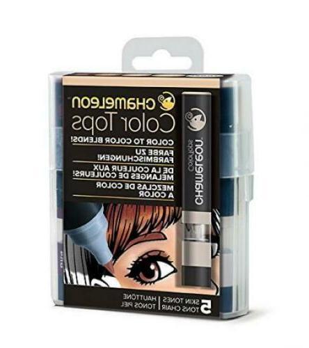 color tops skin tones 5 pen set