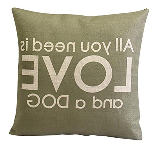 cushion cover pattern printed linen