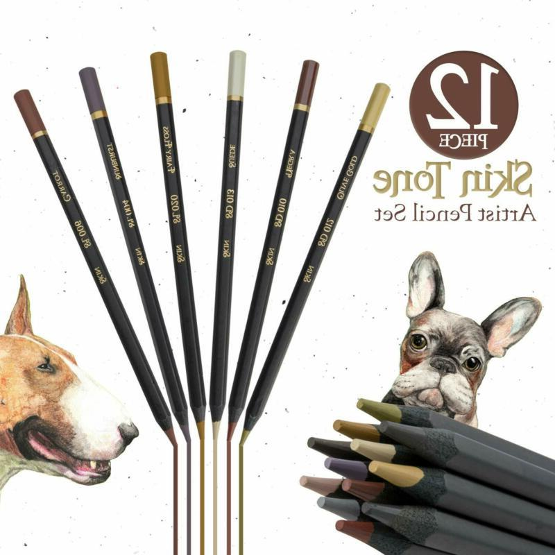 Dark Tone Color Pencils For Portrait - For Adults And S