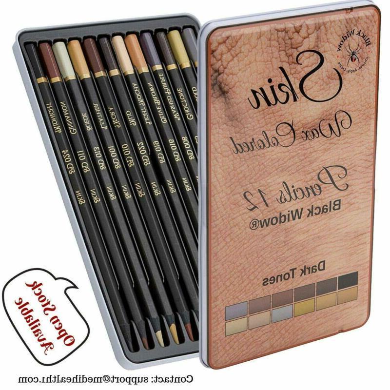 dark skin tone color pencils for portrait