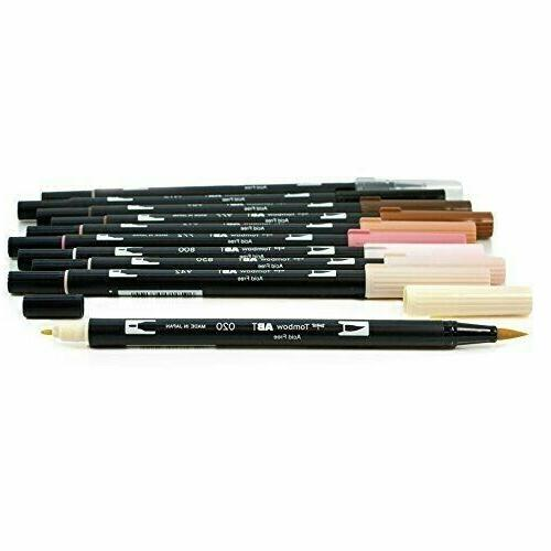 Tombow Dual Brush Art Markers - Portrait Skin Tones 10 - Sealed Pack!